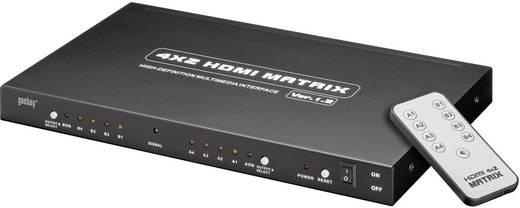 HDMI elosztó, 4 portos, 2 be/2 ki, távirányítóval, goobay AVS 45