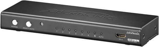 6 portos HDMI switch távirányítóval, 3D-Wiedergabe möglich 1920 x 1080 Pixel clicktronic HC 461 2011 fekete
