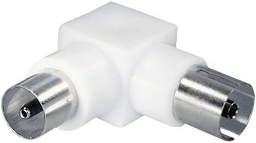 Antenna könyök adapter, műanyag, koax alj – koax dugó, renkforce