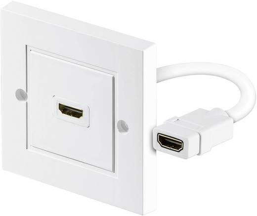HDMI fali aljzat, 1x HDMI aljzat - 1x HDMI aljzat, fehér, Goobay