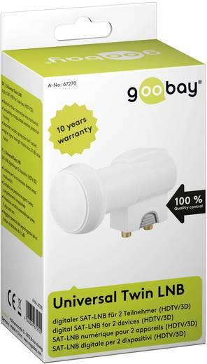 Műholdvevőfej 2 egység számára, 40 mm 0,1 dB, Goobay Twin-LNB
