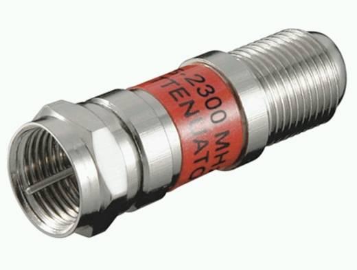 Antennajel csillapító koax F csatlakozó 5 - 2300 MHz Goobay SAT DG-06