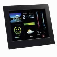 Digitális képkeret időjárásjelző állomással 20,3 cm, Intenso Weatherstar Intenso