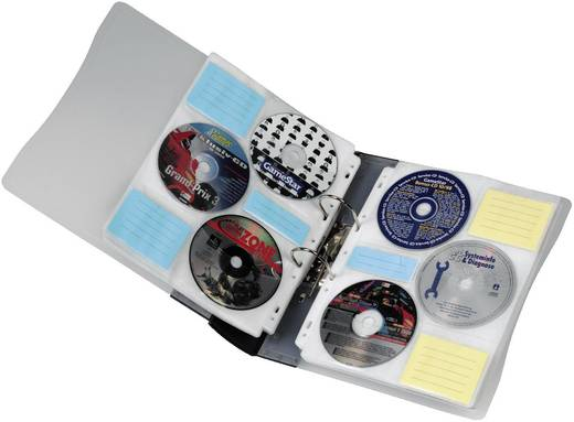 Hama CD/DVD rendező, 120-as CD ROM ORDNER 120 Átlátszó, Gra