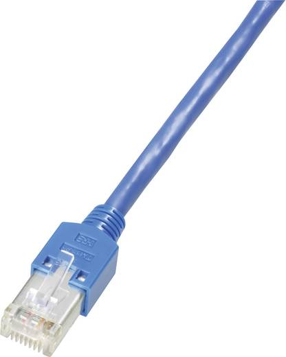 RJ45-ös patch kábel, hálózati LAN kábel CAT 5e S/UTP [1x RJ45 dugó - 1x RJ45 dugó] 0.50 m Kék Dätwyler