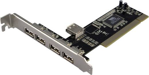 4+1 portos USB 2.0 PCI kártya, LogiLink WL0006