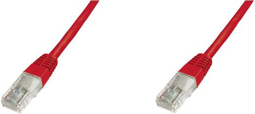 RJ45 Hálózat csatlakozókábel CAT 5e U/UTP 1x RJ45 dugó - 1x RJ45 dugó 10 m Piros UL minősített
