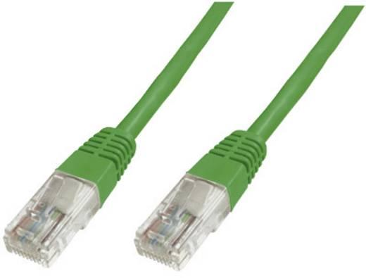 RJ45 Hálózat csatlakozókábel CAT 6 S/FTP 1x RJ45 dugó - 1x RJ45 dugó 0.25 m Zöld