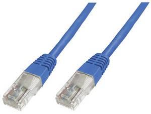 RJ45 Hálózat csatlakozókábel CAT 5e U/UTP 1x RJ45 dugó - 1x RJ45 dugó 0.50 m Kék UL minősített Digitus