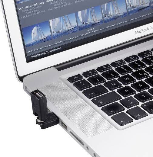 USB 2.0 adapter A/A, 3D csuklóval, Renkforce