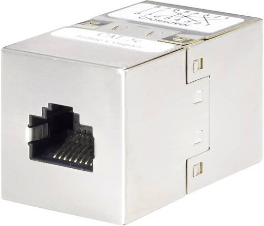 RJ45 (keresztezett) Hálózat CAT 5e [1x RJ45 alj - 1x RJ45 alj] 0 m Fémes