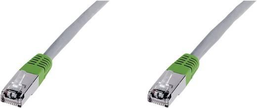 Keresztkötésű RJ45 hálózati LAN kábel, UTP kábel CAT 5e F/UTP 1x RJ45 dugó - 1x RJ45 dugó 0.50 m Szürke Digitus 972427