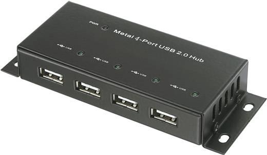4 portos USB HUB fémházban