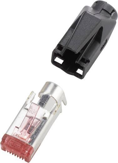RJ45 TM21 CAT 6 árnyékolt kábelhez való egyenes dugó 10 db-os készlet, fekete színű Hirose Electronic 973247