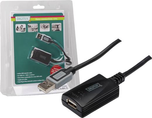 USB jelerősítő, hosszabbító 5m Digitus