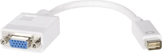 DVI - VGA átalakító adapter, 1x mini DVI dugó - 1x VGA aljzat, fehér, Goobay
