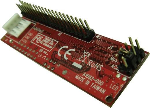 IDE átalakító kábel, 1 x IDE dugó 40 pól, IDE táp dugó 4 pól. - 1 x IDE alj 44 pól., fekete