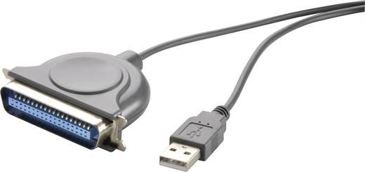 USB/párhuzamos kábel [1x USB 1.1 dugó A - 1x Centronics dugó] 1,8 m, fekete, Renkforce