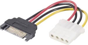 Átalakító kábel, SATA-ról IDE-re, 12 cm, 1x SATA dugó 15 pól., - 1x IDE alj 4 pól., renkforce Renkforce