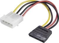 Átalakító kábel, 15 cm, 1x SATA alj 15 pól., - 1x IDE dugó 4 pól., renkforce Renkforce