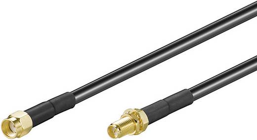 WLAN antennák Hosszabbítókábel [1x RP-SMA dugó - 1x RP-SMA alj] 10 m Fekete aranyozott érintkező Goobay