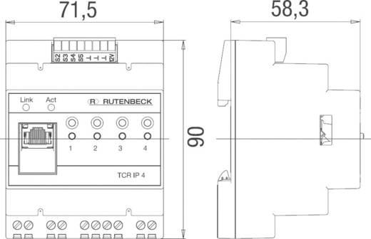Távvezérelhető/időkapcsoló dugaszoló aljzat, Rutenbeck TCR IP 4