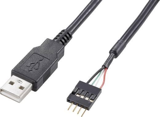 USB kábel átalakító belsőről külsőre, 4 pólusú, 40 cm, Akasa EXUSBIE-40