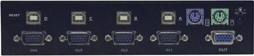 USB hub PS2 kapcsolható 4-es elosztó, switch Digitus DC-12201