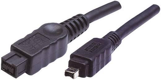 FireWire kábel (1x Firewire (800) dugó 9 pólusú - 1x Firewire (400) dugó 4 pólusú) 1.80 m fekete Digitus