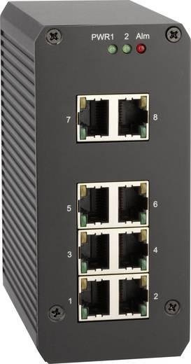 8 portos Ethernet switch kalapsínes szereléshez, 100 Mbit/s