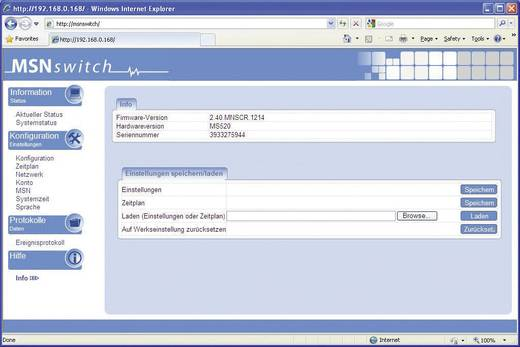 2 portos IP dugaszoló aljzat MSN vezérléssel