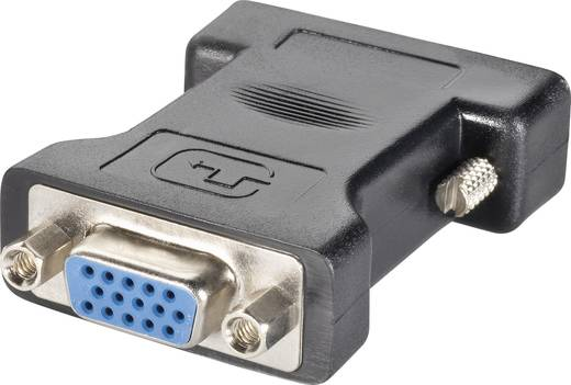 DVI / VGA Átalakító [1x DVI dugó, 24+5 pólusú - 1x VGA alj] Fekete Goobay