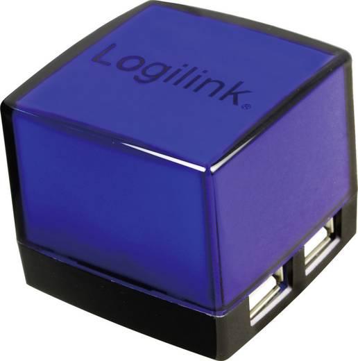 4 portos USB 2.0 Hub, világítós, fekete, LogiLink UA0116