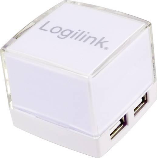 4 portos USB 2.0 Hub, világítós, fehér, LogiLink UA0117