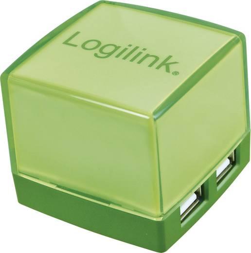 4 portos USB 2.0 Hub, világítós, zöld, LogiLink UA0121