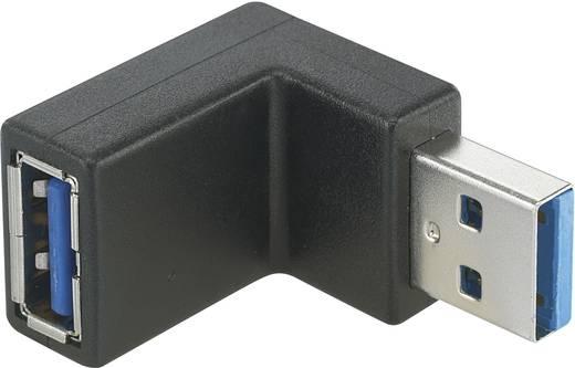 USB 3.0 adapter A-dugóról 90°-ban felfelé hajlított A-hüvelyre, Renkforce
