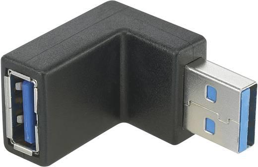 USB 3.0 átalakító, A típusú dugóról A típusú aljra, 90°-ban hátra hajlított