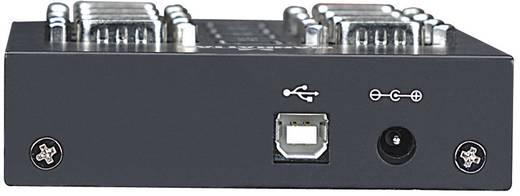 USB - D-SUB soros portos átalakító adapter (8 x D-SUB dugó 9pól. - 1 x USB 2.0 aljzat) fekete, Manhattan 151054