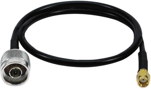 Pigtail wifi antenna hosszabbító kábel, 50 cm, fekete, LogiLink WL0104