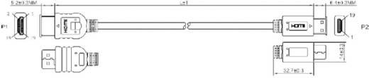 HDMI csatlakozókábel [1x HDMI dugó - 1x HDMI dugó C Mini] 1.5 m fekete