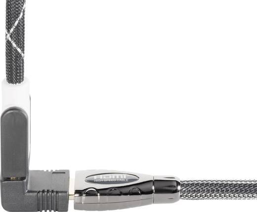 HDMI adapter, HDMI alj – HDMI alj, 90°, fekete, aranyozott
