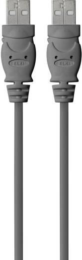 USB kábel, A típusú dugóról A típusú dugóra, 1,8 m, fekete, Belkin