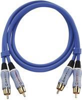 RCA audio kábel, 2x RCA dugó - 2x RCA dugó, 1 m, aranyozott, kék, Oehlbach BEAT! Oehlbach