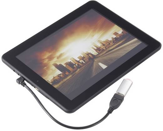 OTG kábel, USB 2.0, mikro B dugó/A hüvely, 10 cm, Renkforce