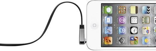 Jack audio kábel, 1x 3,5 mm jack dugó - 1x 3,5 mm jack dugó 90°, 1 m, fekete, nagyon hajlékony, Belkin 808471