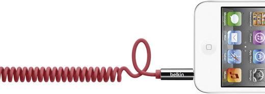 Jack audio csatlakozókábel [1x jack dugó 3,5 mm - 1x jack dugó 3,5 mm] 1.80 m, piros spirálkábel Belkin