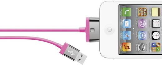 Apple töltőkábel iPhone iPad iPod adatkábel [1x Apple Dock dugó 30 pólusú - 1x USB 2.0 dugó A] 2m pink Belkin 986726