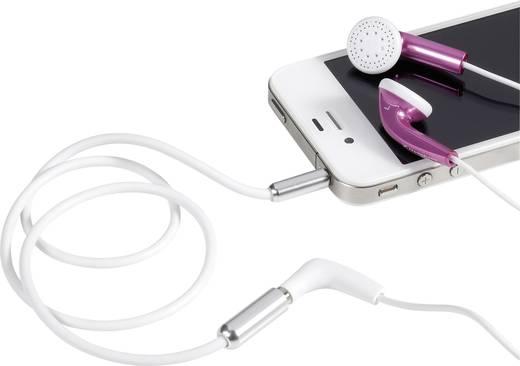 Jack hosszabbító kábel, 1x 3,5 mm jack dugó - 1x 3,5 mm jack aljzat, 1 m, fehér, SuperSoft, SpeaKa Professional 986736