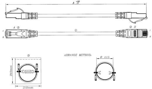 RJ45 Hálózati csatlakozókábel, AWG 26/7, CAT 6A S/FTP [1x RJ45 dugó - 1x RJ45 dugó] 30 m, szürke UL minősített EFB Elekt