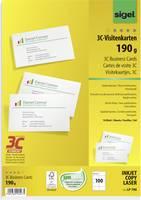Sigel 3C névjegykártyák, 85 x 55 mm, 190 g/m², 100 db, LP790 (LP790) Sigel